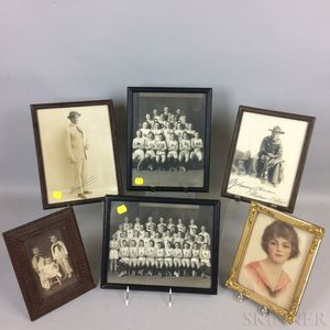 Five Early Framed Photographs