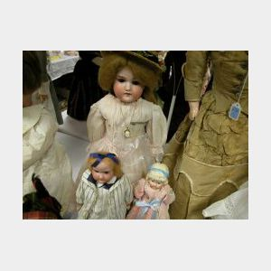 Three German Bisque Shoulder Head Dolls