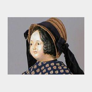 Early Papier-mache Shoulder Head Doll