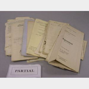 Group of 18th-20th Century Archival Deeds and Documents