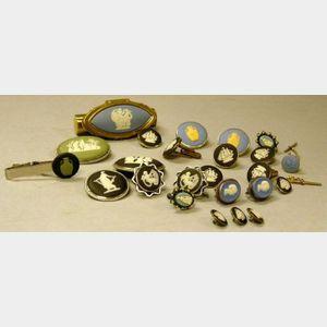 Twenty-four Pieces of Modern Wedgwood Jasper Jewelry.