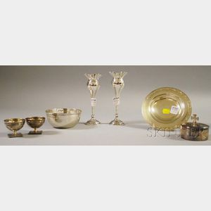 Seven Sterling Tableware Items