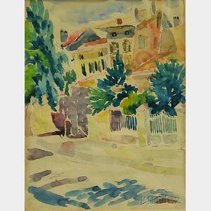 Alice Stanley Acheson (American, 1895-1996)      Coppet Village