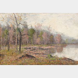 Theodore Clement Steele (American, 1847-1926)      Autumn Marsh