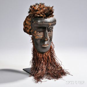 Kuba Carved Wood Mask