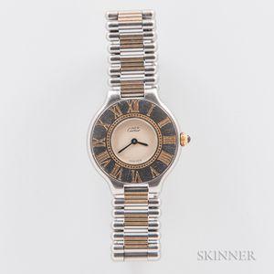 "Cartier ""Must De"" Quartz Wristwatch"