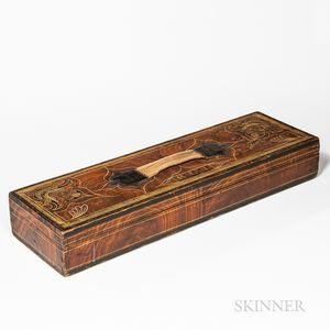 Paint-decorated Pine Instrument Box