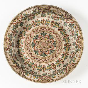 Polychrome Earthenware Dish