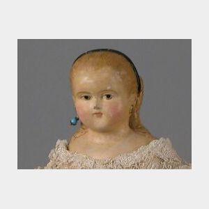Judge & Early Papier-mache Shoulder Head Doll