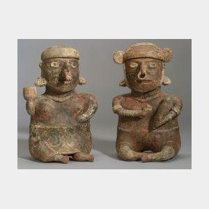 Pre-Columbian Seated Couple