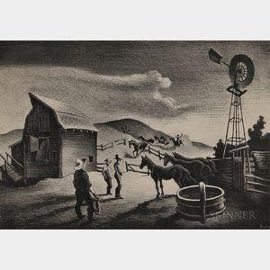 Thomas Hart Benton (American, 1889-1975)      The Corral