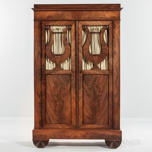 Biedermeier-style Mahogany Cabinet