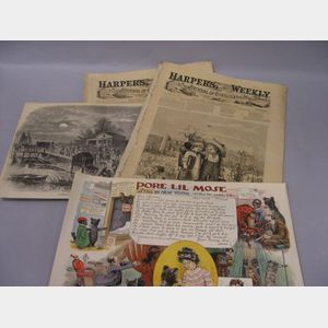 Collection of Black and Ethnic Related Ephemera and Cartoons