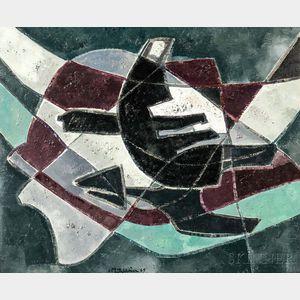 Francis Montanier (French, 1895-1974)    Nocturne Lunaire