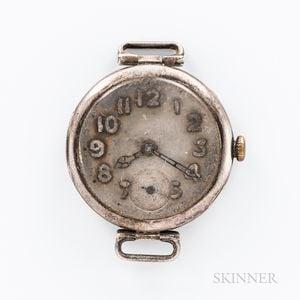 Rolex Silver Trench Watch