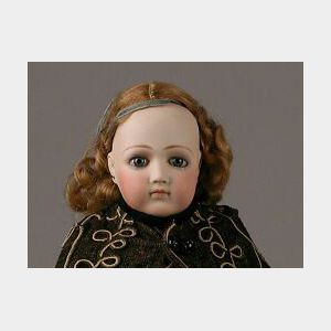 Early Portrait Jumeau Bisque Head Lady Doll