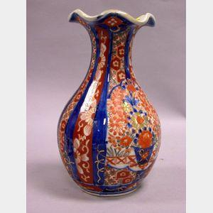 Imari Pattern Porcelain Vase.