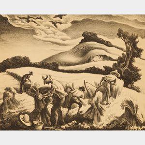 Thomas Hart Benton (American, 1889-1975)      Cradling Wheat