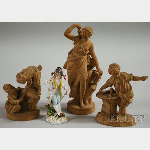 Four Ceramic Figures and Figural Groups