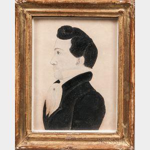 American School, 19th Century      Profile Portrait of a Mulatto Man
