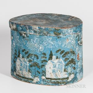 Large Blue Wallpaper-covered Box