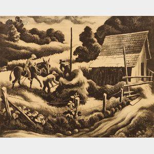 Thomas Hart Benton (American, 1889-1975)      Haystack
