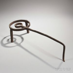 Wrought Iron Long-handled Trivet