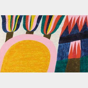 Carol Summers (American, b. 1925)      Lot of Two Works: High Tatras