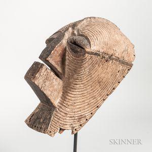 Songye-style Carved Wood Kifwebe Mask