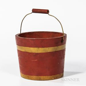 Red- and Yellow-painted Child's Pail