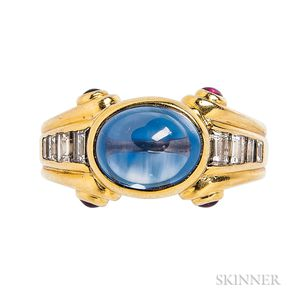 18kt Gold, Sapphire, and Diamond Ring, Bulgari