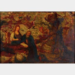 Northern School, 17th Century Style    The Temptation of St. Anthony