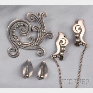 Three Pieces of Sterling Silver Jewelry