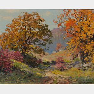 Adolph Heinze (American, 1887-1958)      Autumn Hillside.