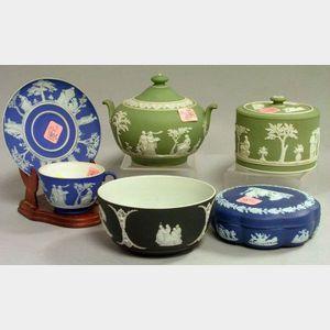 Six Wedgwood Jasper Dip Table Items