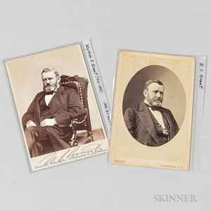 Two General Grant Cabinet Cards