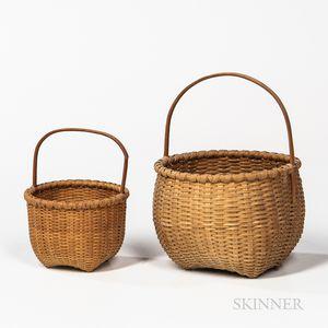 Two Martha Weatherbee Shaker-style Baskets