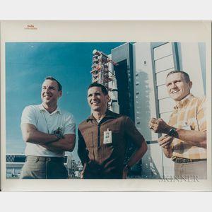 Apollo 8, Prime Crew, Four Photographs.