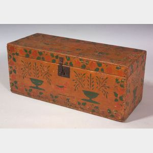 Pine Stencil-decorated Box