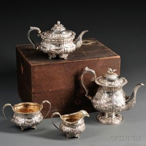 Four-piece George IV Silver Tea and Coffee Service