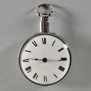 Bainbridge Silver Verge Watch