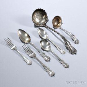 "Sixty-six Pieces of Dominick & Haff ""Mazarin"" Pattern Sterling Silver Flatware"