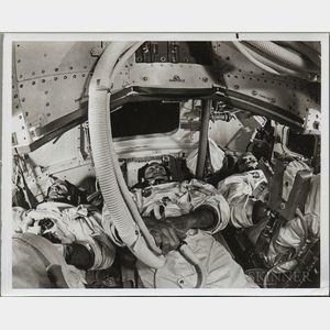 Apollo 8, Prime Crew, Centrifuge and Mission Simulator Training, 1968, Two Photographs.