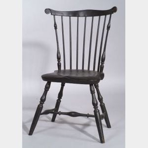 Black Painted Fan-back Windsor Side Chair