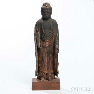 Wood Statue of Amitabha Buddha