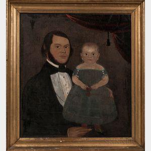 Prior/Hamblen School, Mid-19th Century    Portrait of a Father and Son