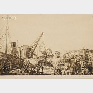 Edmund Blampied (British, 1886-1966)      Lot of Three Images:  The Lumberman
