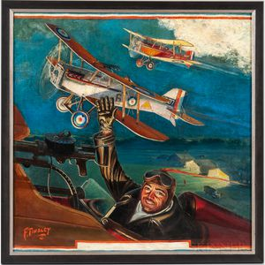 Frank Tinsley (New York/Connecticut, 1899-1965)    George Bruce's Squadron Takes Off
