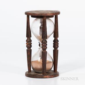 Turned Wood Hourglass
