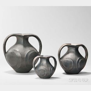 Three Sichuan Pottery Amphoras